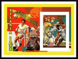 Mali Feuillet De Luxe Imperf , Boxe , Football - Zomer 1996: Atlanta