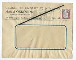 Enveloppe : Graines,Fourrages Et Potageres - Marcel Geroudet Producteur Grainier - Laon - Oude Documenten