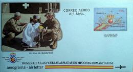 Aerograma De 2014: Editado En Conmemoración A Las Fuerzas Armadas De España - 1931-....
