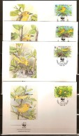 Barbados Barbade 1991 Yvertn° 804-07 (°) Used FDC Cote Des Timbres 11 Euro Faune Oiseaux Vogels - Barbades (1966-...)