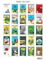 100ste Verjaardag Van De Geboorte Van Hergé (Kuifje - Tintin). Naissance D´Hergé. - Blocs 1962-....