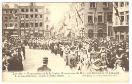 LOUVAIN  ----  N.D. Des Fièvres- Le Cortège Historique 16 Juin 1907  -   Arrivée Des Frères Mineurs - Leuven
