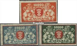 Danzig 147-149 (kompl.Ausg.) Mit Falz 1923 Wappen - Danzig