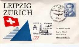 Sonderflug Interflug 1973 - Brief Von Berlin > Zürich - BRD