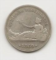 GOBIERNO PROVISIONAL  1 PESETA PLATA  1869      NL202 - [ 1] …-1931 : Royaume