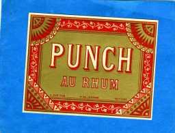 PUNCH AU RHUM VIEILLE LITHOGRAPHIE 19e PUNCH AU RHUM - Rhum
