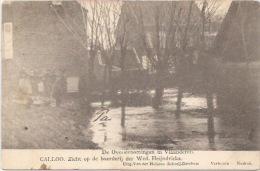 Calloo: De Overstroomingen In Vlaanderen: Zicht Op De Boerderij Der Wed. Heijndrickx - Stabrök