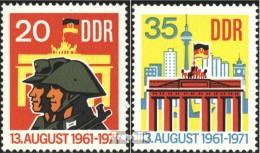 DDR 1691-1692 (kompl.Ausgabe) Postfrisch 1971 Berliner Mauer - [6] Democratic Republic