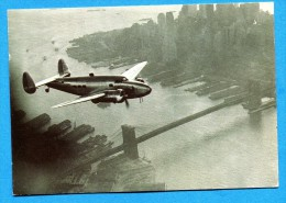 OV1053, Back In The USA, New-York, Avion Bimoteur Hélices, Twin-engined Plane ,GF, Circulée Date Illisible - Flugzeuge
