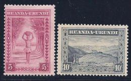 Ruanda-Urundi, Scott # 37-8 Mint Hinged Various Subjects, 1931,1938 - 1924-44: Mint/hinged
