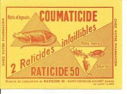 Buvard Saint-Denis-de-Jouhet. Laboratoire Du Raticide. Rats D'égouts, Rats Noirs, Souris. (Agriculture) - Agricoltura