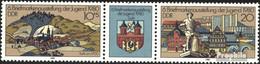 DDR WZd454 (kompl.Ausgabe) (2532-2533 Als Dreierstreifen) Postfrisch 1980 Briefmarkenausstellung - Se-Tenant