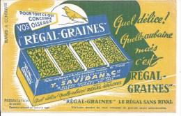 Buvard Régal-Graines Pour Tout Ce Qui Concerne Oiseaux. - Agriculture