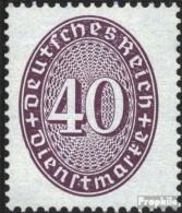 Deutsches Reich D121Y, Liegendes Wasserzeichen Postfrisch 1927 Strohhutmuster - Officials