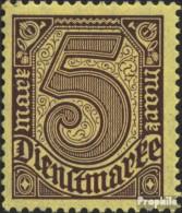 Deutsches Reich D33b Geprüft Mit Falz 1920 Ziffern Ohne 21 - Dienstzegels