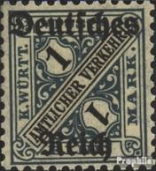 Deutsches Reich D64 Geprüft Gestempelt 1920 Württembergausgabe - Dienstzegels