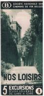 Dépliant SNCB, Mars 1938, Nos Loisirs 5 Excursions D´une Journée De Gare En Gare - Série 4 - Non Classés