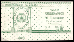 Cigarrilhas LISBOA - Companhia Portuguesa De Tabacos. Old Vintage TOBACCO BOX PAPER Cigars Portugal - Boites à Tabac Vides