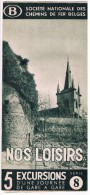 Dépliant SNCB, Mars 1938, Nos Loisirs 5 Excursions D´une Journée De Gare En Gare - Série 8 - Non Classés