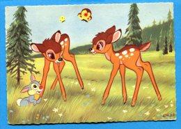 Q150, Bambi, Biche, Lapin, Papillon, Walt Disney, Fantaisie, GF, Circulée 1975 - Unclassified
