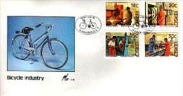 CISKEI, 1986 , Bicycle Factory,  Mint First Day  Cover,  FDC 1.19 - Ciskei