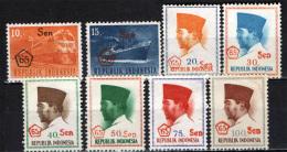 INDONESIA - 1965 - EFFIGIE DEL PRESIDENTE SUKARNO . CON SOVRASTAMPA - NUOVI NO GUM - Indonesië