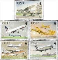 GB-Jersey 400-404 (kompl.Ausg.) Gestempelt 1987 Flugzeuge - Jersey