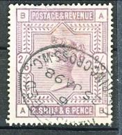 UK 1883-84 Victoria N. 86 - 2,65 Scellini Violetto BA Usato - Used Stamps