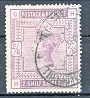 UK 1883-84 Victoria N. 86 - 2,65 Scellini Violetto GH Usato - Used Stamps