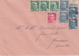 1946 LETTRE 8 TIMBRES/ 4341 - Covers & Documents