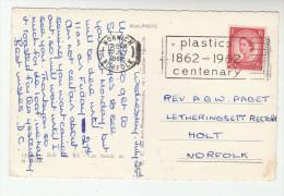 1964 COVER SLOGAN Pmk PLASTICS CENTENARY (postcard Ile De Re) Norwich Gb Stamps - Chemistry