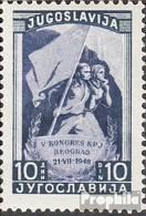 Jugoslawien 544C Postfrisch 1948 5. Kommunistischer Kongress - 1945-1992 Repubblica Socialista Federale Di Jugoslavia
