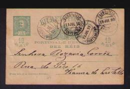 Portugal Postal Stationery Entier Postaux D.Charles 1898 Ponte Do Lima VIANA DO CASTELO Gc1730 - Postal Stationery