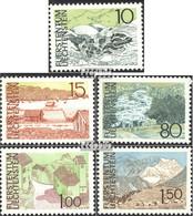 Liechtenstein 573-577 (kompl.Ausg.) Postfrisch 1972 Landschaften - Ungebraucht