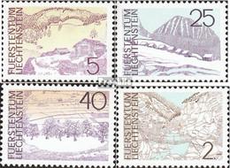 Liechtenstein 596-599 (kompl.Ausg.) Postfrisch 1973 Landschaften - Neufs