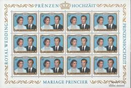 Luxemburg 1036 Kleinbogen (kompl.Ausg.) Gestempelt 1981 Hochzeit - Blocks & Kleinbögen