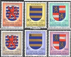 Luxemburg 575-580 (kompl.Ausg.) Postfrisch 1957 Luxemburger Wappen - Ungebraucht