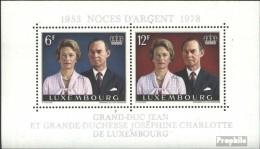 Luxemburg Block11 (kompl.Ausg.) Postfrisch 1978 Silberhochzeit - Blocks & Kleinbögen