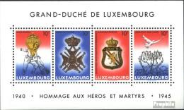 Luxemburg Block14 (kompl.Ausg.) Postfrisch 1985 Waffenstillstand - Blocks & Kleinbögen