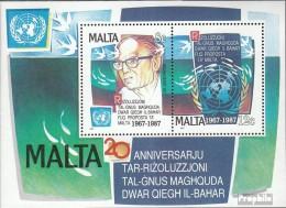 Malta Block10 (kompl.Ausg.) Postfrisch 1987 UNO- Resolution - Malta