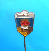 GAMBRINUS BREWERY - Croatian vintage pin badge beer bi�re cerveza bier birra cerveja  �l olut �l distintivo anstecknadel