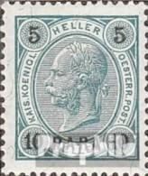Österr.-Post Levante 32 Mit Falz 1900 Aufdruckausgabe - Oriente Austriaco