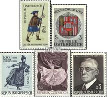 Österreich 1229,1230,1231,1233,1234 (kompl.Ausg.) Gestempelt 1967 Sondermarken - 1945-.... 2. Republik
