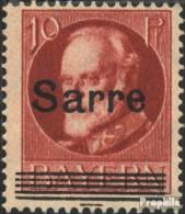 Saarland 19 Gestempelt 1920 König Ludwig - Gebraucht