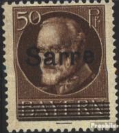Saarland 25 Gestempelt 1920 König Ludwig - Gebraucht