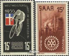 Saarland 357,358 (kompl.Ausg.) Postfrisch 1955 Sondermarken - 1947-56 Occupation Alliée