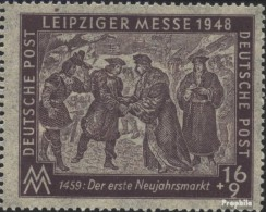 Sowjetische Zone (All.Bes.) 198V, Gebrochener Rand Unter +9 (Feld 13) Gestempelt 1948 Leipziger Messe - Zone Soviétique