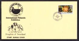 South Africa : Swaziland JOHANNESBURG 100 International Philatelic Exhibiton, 1986, Postmark + Cover - Swaziland (1968-...)