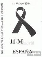 Spanien MH0-16 (kompl.Ausg.) (mit 8 X Nummer 3943) Postfrisch 2004 Terrorismus - Spanien