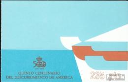 Spanien MH5 (kompl.Ausg.) Postfrisch 1987 Entdeckung Amerikas - Spanien
